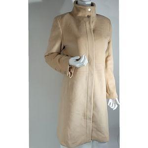 Calvin Klein Angora/Wool Long Hunter Coat